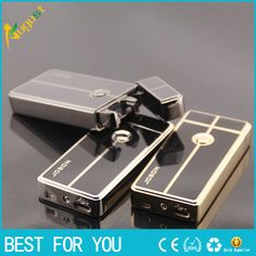 100pcs/lot Fashion metal Electronic Gift Box safe Ultra-Thin Lighters Cigarette Cigar Windproof lighter USB gas lighter
