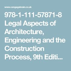 11 best fidic images on pinterest construction contract book and legal aspects of architecture engineering and the construction process edition by sweetschneier fandeluxe Images