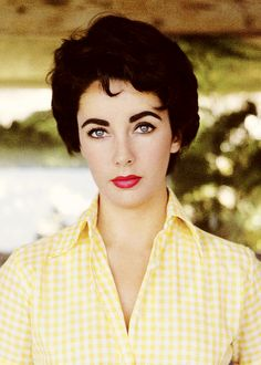 Elizabeth Taylor photographed by Sanford Roth, 1954. (Cropped image, but better that way).