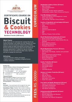 Enroll now for Certificate Course on #Biscuit & #Cookies #Technology. Session starting on Sept. 11 at #AIBTM, Greater Noida. Email now at aibtm@aibtm.in