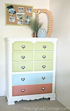 Colorful Dresser Red