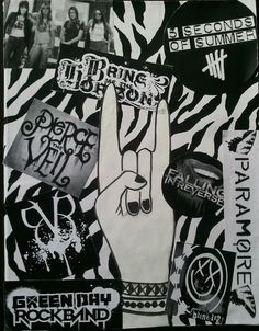 I made my own DIY custom band book. Kinds Of Music, My Music, Screamo, Sleeping With Sirens, Pierce The Veil, Fall Out Boy, Music Stuff, Depressed, Punk Rock