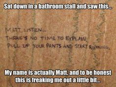 Listen to the mysterious note and run Matt
