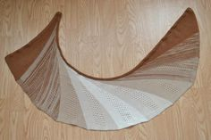 shawl Alba, pattern for Machine knitting
