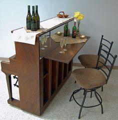 Old Piano Into A Wine Bar Diy Pinterest Wine Bars