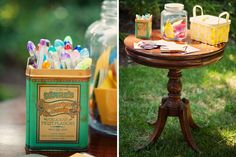 Bridal Shower Memory Jar. Guests can write notes and put them in the jar. LOVE THIS!