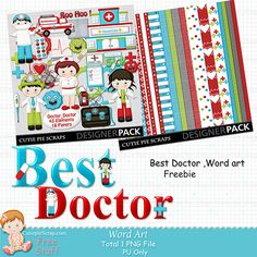 Free Digital Scrapbook Kits: Doctor - Doctor Digital Scrap kit