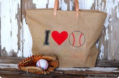 Stenciled Baseball Bag