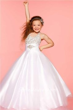 Devoted Long Little Bride Pageant Holiday Dress For Girls Corset Kids Graduation Ball Gown Puffy Tulle Dress Prom Flower Girl Dress Pretty And Colorful Weddings & Events