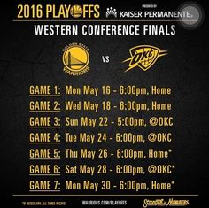 2016 Playoffs Western Conference Finals, GSW vs OKC. GSW won on Game 7!