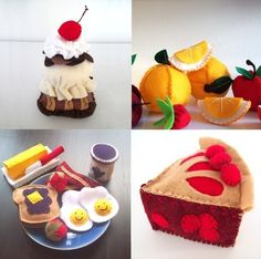 Tons of Felt food patterns!