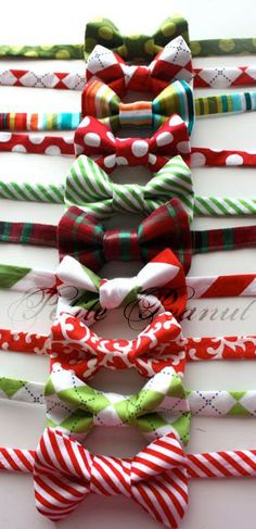 Little Guy Holiday CHRISTMAS Bowtie   Colorful by petitepeanut, $14.03  @Brittany Love we need these for our lil boys!!