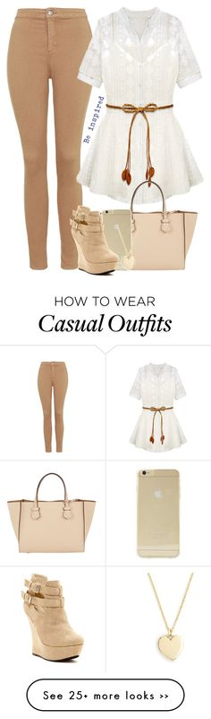 """Casual in Beige"" by cloudybooks on Polyvore"