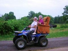 4-wheelin' senior style!