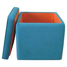 Storage Ottoman Teal.Opens in a new window