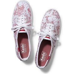 Keds CHAMPION JUNGLE TOILE ($40) ❤ liked on Polyvore featuring shoes, sneakers, red, keds, red shoes, flexible shoes, keds footwear and keds sneakers
