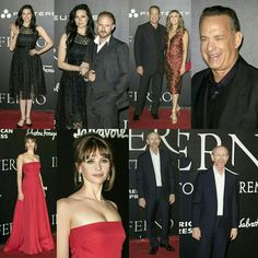 #BenFoster (with fiancee @lauraprepon) #TomHanks (with wife #RitaWilson), #FelicityJones, and director #RonHoward at the world premiere of the film #Inferno yesterday in Florence, Italy. (📸 WENN, Getty) • • • • • • • • • • • • • • • • • • • • • • • • • • • • • • • • • • • #BenFoster (com a noiva #LauraPrepon) #TomHanks (com a esposa #RitaWilson), #FelicityJones e o diretor #RonHoward na premiere mundial do filme #Inferno ontem em Florença, Itália. (📸 WENN, Getty)