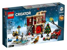 The LEGO Winter Village is growing up with the tallest holiday set so far, the 10263 Winter Village Fire Station. Lego Christmas Village, Lego Winter Village, Christmas Tree, Christmas Photos, Lego Creator, The Creator, Lego Sets, Legos, Winter Fire