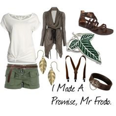 A fashion look from April 2012 featuring white t shirt, brown tops and green shorts. Browse and shop related looks.