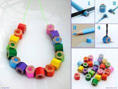 bracelet crayons de couleur