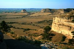 Nebraska, USA. This scene is from the Saddle Rock Trail, about three-fourths of the way up Scotts Bluff.