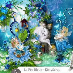 Essentiel - la fée bleue de kittyscrap