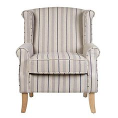 Blue Stripe Edinburgh Armchair | Dunelm | Mums Home | Pinterest | Armchairs,  Bedrooms And Living Room Ideas