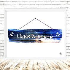 Beautiful Life's a Beach Print. Beach Print, Donegal, Life Is Beautiful, Digital Prints, Ireland, Surfing, Waves, Texture, Wall Art