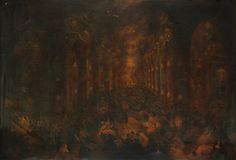 The Destruction by Fire of the Church de la Campania, Santiago, Chile, on 8 December 1863, Nathan Hughes