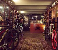 Bike shop with carpet