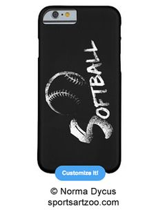 Grunge Softball iphone 6 case by SportsArtZoo #softball #iphone6