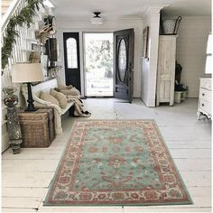 Rosalind Wheeler This rug is an antique-style traditional rug. It suits many older houses with oak beams, thatched roofs, floorboards, etc. The rug is washed and left to dry in the hot sun. This process gives a more faded appearance and looks super. Rug Size: Rectangle 120 x 180cm Traditional Interior, Traditional Rugs, Orange Rugs, Red Rugs, Country House Interior, Thatched Roof, Interior Decorating, Interior Design, Rug Size