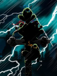 A FULL COLOR TMNT GOTHIC PRINT.