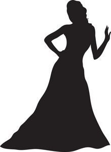 Gown Clipart Image: Woman Silhouette