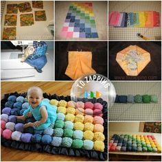 Hacer Un Tapete De Juegos Para Bebé - Tozapping.com Diy Craft Projects, Diy Crafts, Project Ideas, Craft Ideas, Bebe Baby, Kids Rugs, Home Decor, Industrial Kids Decor, Shape