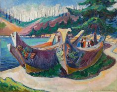 Painting by Emily Carr/courtesy of the Vancouver Art Gallery. Article: Emily Carr's British Columbia An unsettling journey through the archives, By Sarah Milroy, From the May 2015 Walrus magazine Tom Thomson, Canadian Painters, Canadian Artists, Emily Carr Paintings, Vancouver Art Gallery, Group Of Seven, Impressionist Paintings, Landscape Paintings, Landscape Photos