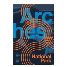 Type Hike is a collaborative design project that take a look at the US national parks from a typographic perspective. 60 designers have each created a poster about a national park, type being the m… American National Parks, Most Visited National Parks, Corporate Design, Arches Park, Typographic Poster, Typography, National Park Posters, Travel Logo, Lettering Design