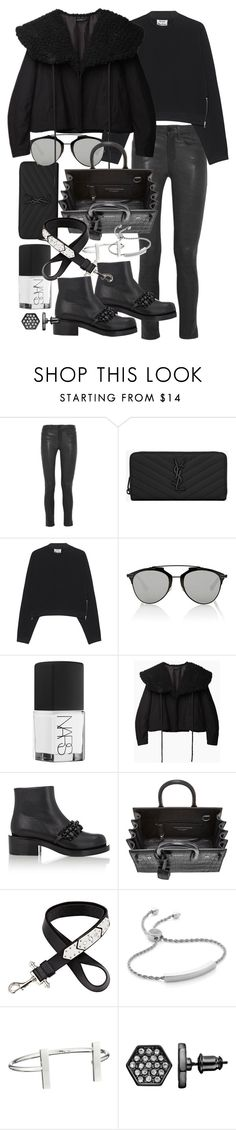 """Untitled #19586"" by florencia95 ❤ liked on Polyvore featuring Frame Denim, Yves Saint Laurent, Acne Studios, Christian Dior, NARS Cosmetics, Yohji Yamamoto, Givenchy, Monica Vinader, French Connection and Simply Vera"