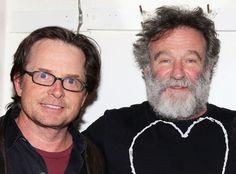 "Michael J. Fox ""Stunned"" by News That Robin Williams Had Parkinson's Disease Michael J. Fox, Robin Williams"