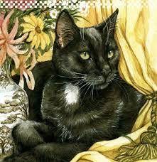 Diy Diamond Painting Full Square Diamond Embroidery Black Cat With Glass Mosaic Making Cross Stitch Handicrafts Home Decor Animation, Cat Cards, Here Kitty Kitty, Cat Drawing, Beautiful Cats, Pet Portraits, Pet Birds, Cool Art, Fun Art