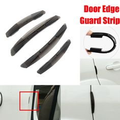 Dongzhen 4X Silicone Car Accessories Door Edge Guard Strip Decoration Anti-rub Bumper Door Edge Crash Scratch Sticker Protection #Affiliate