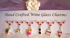 Wine Glass Charms - Beach Themed Wine Glass Charms - New Home Gift Ideas £9.99