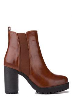 Dámske členkové topánky SMF - karamelová ae75c07950