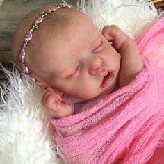 Twin A Bonnie Brown reborn doll. Created by Mary Anderson Dolls.
