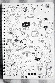 doodle art drawing / doodle art - doodle art journals - doodle art for beginners - doodle art drawing - doodle art easy - doodle art creative - doodle art patterns - doodle art for beginners easy drawings Easy Doodles Drawings, Easy Doodle Art, Cute Easy Drawings, Doodle Art Drawing, Cool Art Drawings, Art Sketches, Sketchbook Drawings, Tumblr Drawings Easy, Doodle Sketch