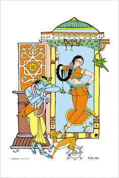 Tanjore Painting, Krishna Painting, Krishna Art, Krishna Images, Radhe Krishna, India Art, India India, South India, Art Folder