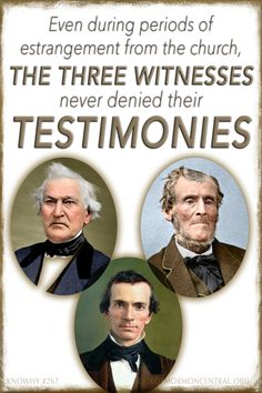 Why Were Three Key Witnesses Chosen to Testify of the Book of Mormon? Family Scripture, Scripture Study, Lds Quotes, Religious Quotes, Religious Studies, Lds Books, Lds Church, Church Ideas, Nice