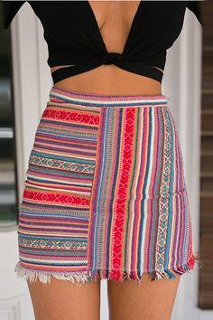 Fashion Stripe Tight A-Line Skirt