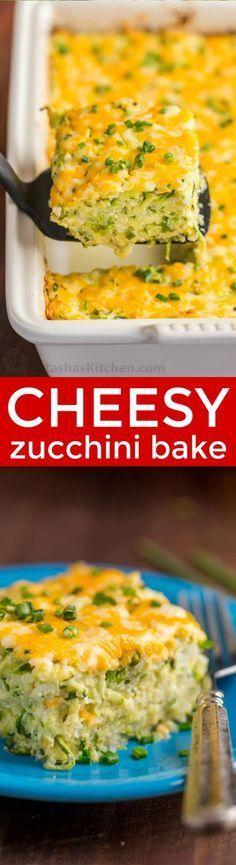 A golden cheesy crust seals in the fluffy, moist and creamy center of this zucchini casserole. An easy and irresistibly delicious zucchini casserole recipe | natashaskitchen.com