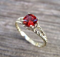Ruby Red engagement ring!